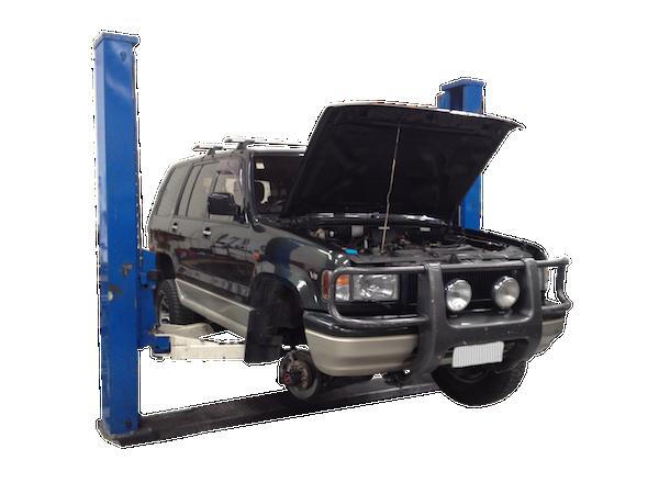 car repair workshop hoist